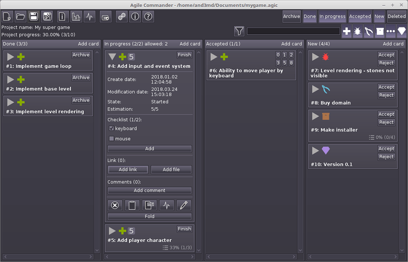Agile Commander for Linux full screenshot